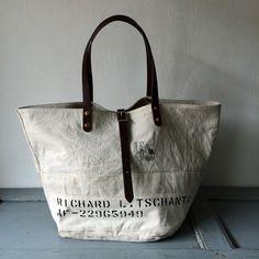 1951 USAF white canvas duffle bag remake tote bag W56.5cm H33cm D32cm Handle51cm IND_BNP_0099_USAF