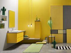 Con lavabo incasso soprapiano Aino e specchiera Plane con luce perimetrale, la composizione ARC 1506026 e.Ly 51 di Arcom - colore…