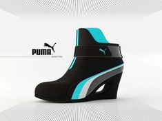 "Puma Laufschuhe The Puma 'Speed Kitty' Heels Concept Brings Electric Color to Sport Heels. ""Sport Heels"", really people? Women's Shoes, Cat Shoes, Pumas Shoes, Me Too Shoes, Nike Shoes, Shoe Boots, Sneakers Mode, Wedge Sneakers, Sneakers Fashion"