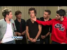 """One Direction Dishes On This Is Us. I like how Louis and Niall repeated """"ever"""" in a higher tone. Harry's glad his underwear didn't get pulled down. And Liam is a younger David Beckham. One Direction Youtube, One Direction Videos, One Direction Humor, I Love One Direction, One Direction Interviews, Access Hollywood, Youre The One, If I Stay, Change My Life"""
