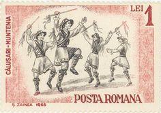 1965  Romania  -  Folk dance of the Calusari in Muntenia