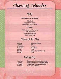 Adult Chore Chart