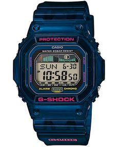 $99 G-Shock Men's Digital Blue Resin Strap Watch 43x47mm GLX5600C-2 - Watches - Jewelry & Watches - Macy's