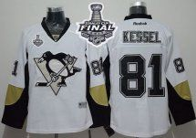2017 Stanley Cup Final Patch Penguins #81 Phil Kessel White Away