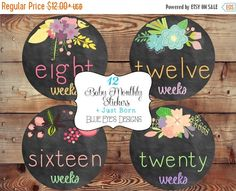 ON SALE Pregnancy Belly Stickers,Chalkboard Flower Pregnancy Stickers,Bump Stickers, Pregnancy Tracker,Pregnancy Gift P0400 by blueeyesdesigns27 on Etsy https://www.etsy.com/listing/183578229/on-sale-pregnancy-belly