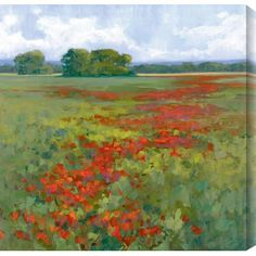 Gallery Direct Poppies I by Kim Coulter Painting Print on Canvas