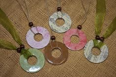 Washer Necklace | http://jewelry853.blogspot.com