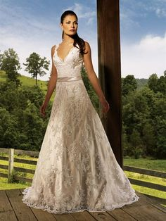 "Another Allure dress.  Looks terrible on the model, but I've seen it on a ""real"" bride and it looked beautiful."