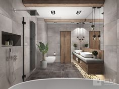 Green bathroom: complete guide to decorate this little corner - Home Fashion Trend Modern Bathroom Design, Bathroom Interior Design, Dream Bathrooms, Small Bathroom, Master Bathroom, Suites, Bathroom Furniture, Bathroom Inspiration, Design Inspiration