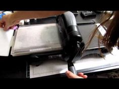 Tips For Using Long Embossing Folders in Big Shot - YouTube