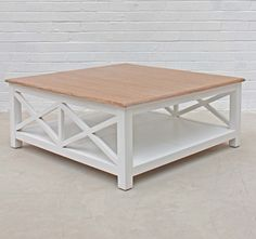 New Hamptons Coffee Table | White or Oak | The Block Shop
