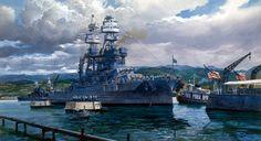 USN - Battleship USS Arizona BB39 - Pennsylvania Class