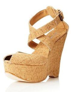 Plomo Women's Maria Wedge Sandal (Cork) so cute! Cork Sandals, Wedge Sandals, Wedge Shoes, Shoes Heels Boots, Heeled Boots, Shoes Sandals, Designer Shoes, Designer Handbags, Fashion Shoes