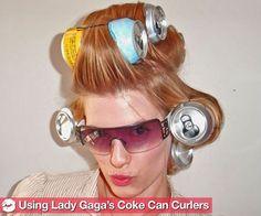 We Road Test Lady Gaga's Coke Can Curlers