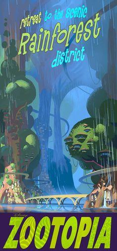 Rainforest Distric Poster - Zootopia