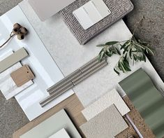 Thank you Gemma Bishop, Display Home Interior Designer at #FairhavenHomes for this beautiful #flatlay inspired by the West MacDonnell Ranges, featuring COLORBOND® steel Mangrove®. #COLORBONDpalette #COLORBONDsteel #Mangrove #FlatlayFriday #letstalkcolour