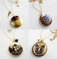 lockets feature some  illustrations of Bonbi Forest's Lee May Foster-Wilson