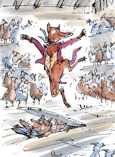 Roald Dahl - Fantastic Mr Fox Poster by Quentin Blake at King & McGaw