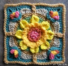 Winter  and Summer  Solstice Squares  - Free Crochet Patterns