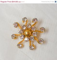 On SALE Vintage PR St. Co Brooch 1/20th Gold by JewlsinBloom