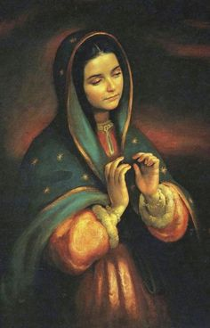 Feast of Our Lady of Guadalupe – 12 December Blessed Is She, Blessed Mother Mary, Divine Mother, Blessed Virgin Mary, Catholic Art, Catholic Saints, Religious Art, Religious Pictures, Jesus Pictures
