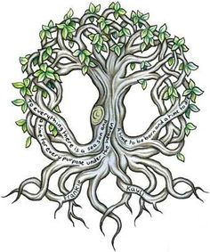 WOW, Irish Tree of Life....so beautiful. Would look nice as a contrast to my current tattoo for my kids (see Slayers Style)