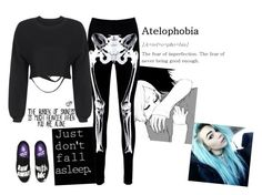 """""""Atelophobia"""" by lifesucks-musichelps ❤ liked on Polyvore featuring Boohoo, Vans and Alison Lou"""
