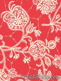 """Lark Souvenir"" in persimmon from Amy Butler fabrics"