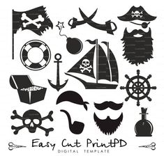 Pirate svg eps dxf ai jpg png vinyl decal sword от EasyCutPrintPD