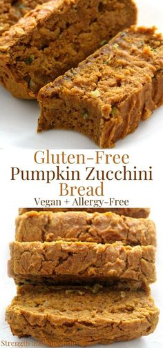 Transition from Summer to Fall with healthy delicious Gluten-Free Pumpkin Zucchini Bread! This easy quick bread recipe is vegan, allergy-free, veggiful! Pumpkin Zucchini Bread, Gluten Free Zucchini Bread, Vegan Bread, Gluten Free Pumpkin, Healthy Pumpkin, Vegan Zucchini, Zucchini Pancakes, Pumpkin Pancakes, Coffee Creamer Recipe