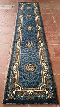 Traditional Long Runner Area Rug Light Blue  Green Persian Kingdom D1232ft4inX10ft11in ** Check out the image by visiting the link.