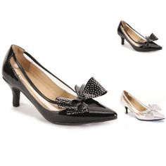 6fb1364951 Sparkle Bow Patent Pump by EY Boutique Womens Clearance
