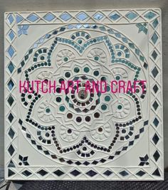 Diy Mirror Decor, Mirror Art, Clay Wall Art, Clay Art, Ceramic Painting, Ceramic Art, Mural Art, Murals, Temple Room