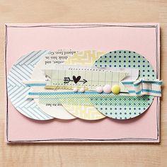 Heart Card > Studio Calico September Kits - Two Peas in a Bucket Studio Calico, Crate Paper, Scrapbook Supplies, Scrapbook Cards, Scrapbooking, Cool Cards, Diy Cards, Project Life Cards, Project 365