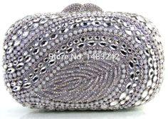 84.00$  Buy now - http://ali2kr.worldwells.pw/go.php?t=32665312515 - Diamond Women Fashion Crystal Clutch Evening Bags Ladies Wedding Dinner Party Metal Box Clutches Purse Bolso De Mano 84.00$