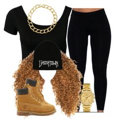 """."" by trillest-queen ❤ liked on Polyvore featuring Susan Caplan Vintage, Timberland and Lacoste"