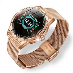 Women Smart Watch Waterproof iPhone & Android | Heart Rate Monitor Fitness Tracker Sport Watches, Watches For Men, Waterproof Sports Watch, Heart Rate, Fitness Tracker, New Woman, Blood Pressure, Leather Fashion, Smart Watch