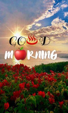 Morning Love Quotes, Morning Inspirational Quotes, Good Morning Messages, Good Morning Flowers Gif, Good Morning Wallpaper, Good Day, Creative Art, Neon Signs, Mornings