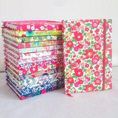 * pretty Liberty notebooks