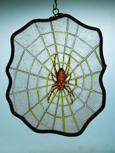 MedievalStyleHandmadepeSpider AracnidStained Glass