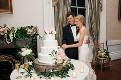 Hibernian Hall Wedding - pretty cake stand