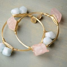 Bourbon and Boweties Stone Bangle Set- Rock Candy