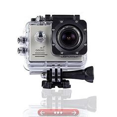DBPOWER Original EX5000 WIFI 14MP FHD Sports Action Camera waterproof with 2 Improved Batteries and free Accessories (Silver)