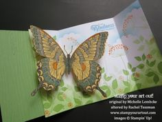 Beautiful Butterfly Card (click here for full directions and more photos) - Stampin' Up!® - Stamp Your Art Out! www.stampyourartout.com