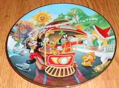 Disney 40th Anniversary Collector Plate Series 1996 LE Mickey's Toontown Mouse #Disney
