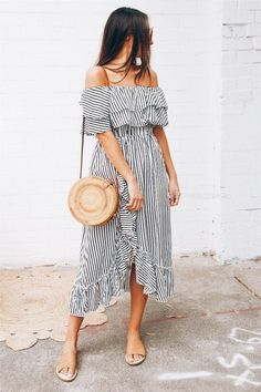 summer stripes and love that hemline