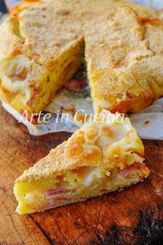 Torta 5 minuti salata gratinata prosciutto e formaggio vickyart arte in cucina