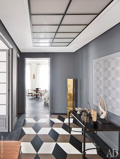 Квартира в Париже: фото интерьеров от декоратора Жака Эрвуэ | Admagazine | AD Magazine