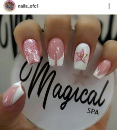 French Manicure Nail Designs, Nail Art Designs, Elegant Nails, Best Acrylic Nails, Trendy Nails, Girly, Glitter, Valentines, Tattoos
