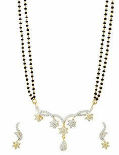 Star Shaped CZ Mangal Sutra Pendat Set special jewellery for womens buy Mangal Sutra as valentine gift for wife's. http://www.girlsfashionsense.com/ #mangalsutra #valentinegift #gifts